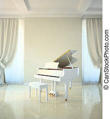 Sala de piano al estilo clásico