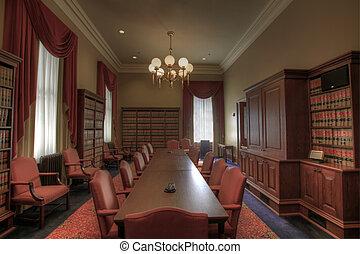 Sala de reuniones de la biblioteca