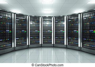 Sala de servicio en el centro de datos
