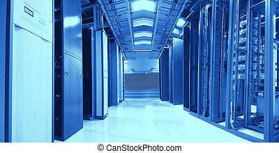 Sala de servidores de comunicaciones e Internet