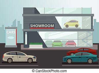 sala exposición coche
