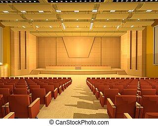Sala o sala de conferencias vacías