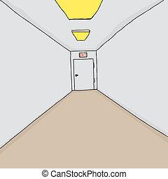 Salida en el pasillo