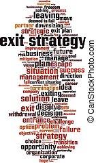 salida, palabra, estrategia, nube