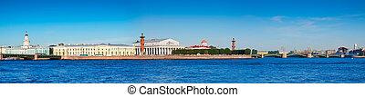 saliva, s., isla, vasilievsky, vista, petersburg.