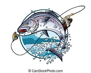 Salmón de pesca