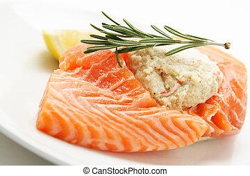 salmón, disecado