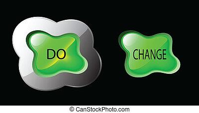 Salpicadura de botón verde brillante