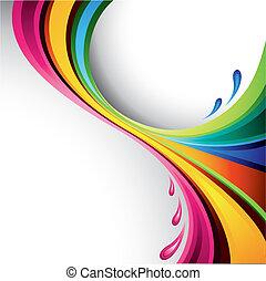 salpicadura, diseño, colorido