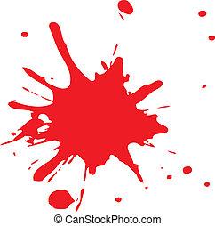 Salpicaduras rojas de sangre o tinta