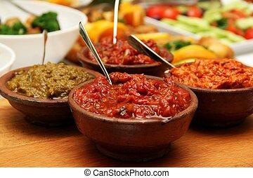 Salsa de pimienta roja asada