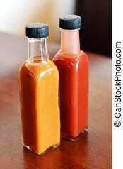 Salsa de tomate y mostaza