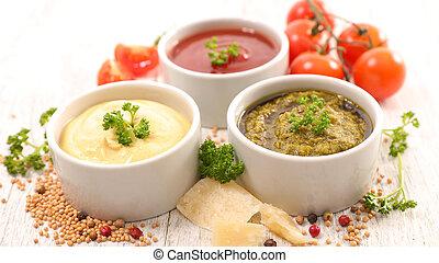 Salsa variada e ingrediente