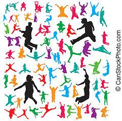 Saltando gente