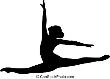 saltar, bailarín, ballet