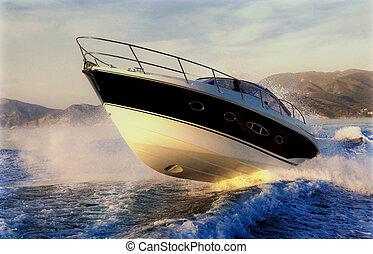 saltar, barco