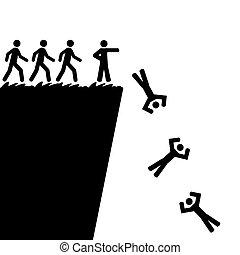 saltar lejos, acantilado