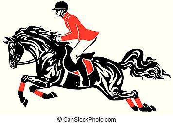 Salto de caballo ecuestre
