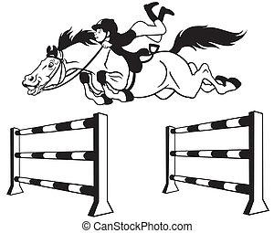 Salto de caballos de cartón