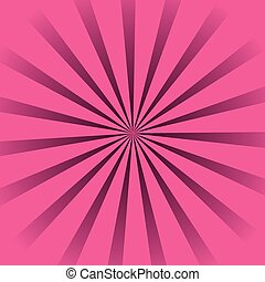 Salto de sol rosa