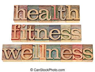 Salud, aptitud, bienestar