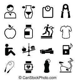 Salud, aptitud y iconos dietéticos