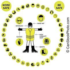 Salud circular amarilla y seguridad I