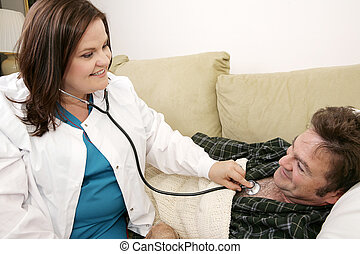 Salud en casa, enfermera amistosa