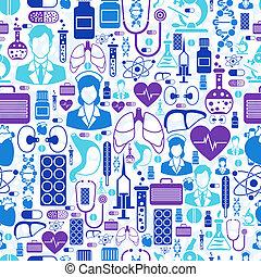 salud, médico, pattern., seamless, cuidado