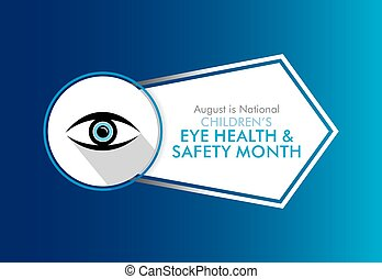 salud, niños, seguridad, ojo, mes