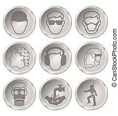 Salud y iconos de seguridad