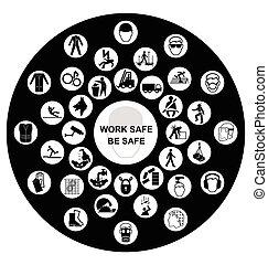 Salud y un icono de seguridad