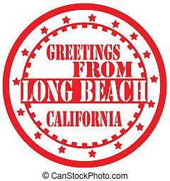saludos, largo, beach-label