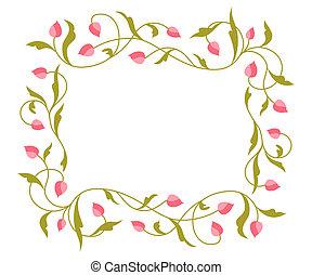 saludos, pattern., tarjeta, floral