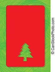 Saludos por texto con árbol de Navidad
