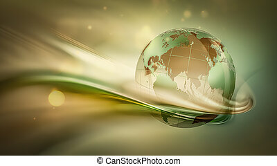 Salva la imagen del concepto mundial