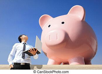 Salvando dinero con mi alcancía