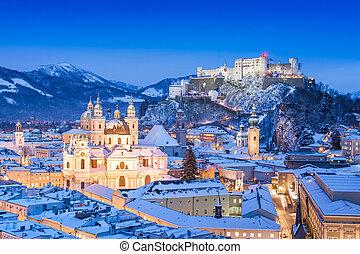 salzburg, invierno, austria
