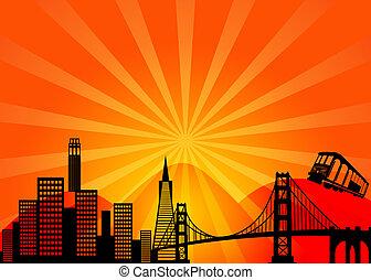San Francisco California Skyline clip de la ciudad