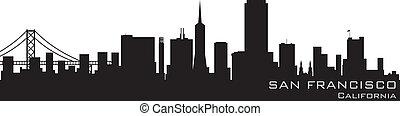 San Francisco, California Skyline. Detallado vector silueta