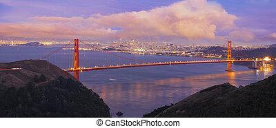 San Francisco Golden Gate al atardecer