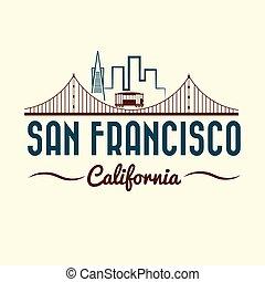 San Francisco Golden Gate Bridge y tranvía