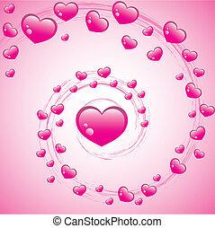 San Valentín arremolinado