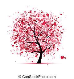San Valentín con corazones para tu diseño