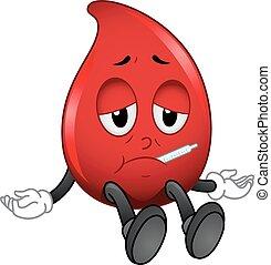 Sangre de mascota enferma