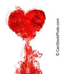 Sangre en forma de corazón