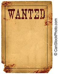 Sangre manchada quería un póster de 1800 al oeste salvaje