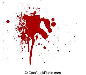 Sangre salpicada de terror rojo sangriento Gore gotea violencia asesina