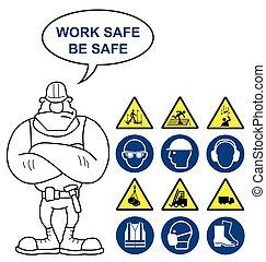 Sanidad, seguridad y signos de peligro