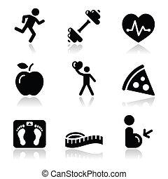 Sanidad y salud, un icono negro y limpio